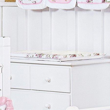 Trocador de Bebê com Espuma VICTÓRIA Luxo 100% Algodão - Plastificado