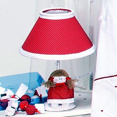 Abajur Bebe Retrô Vermelho