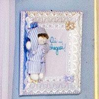 Enfeite de Porta Quadrinho Azul Sleep