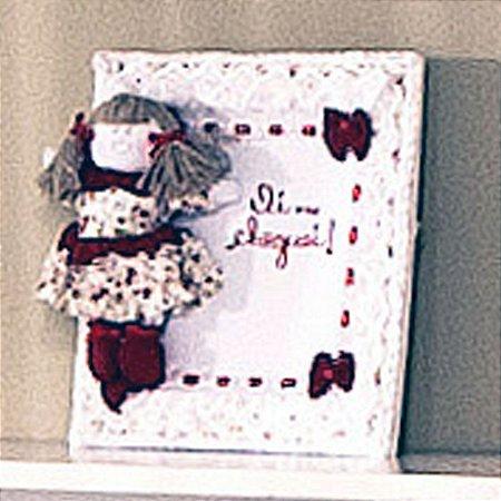 Enfeite de Porta Quadrinho Baby Flowers Vermelho