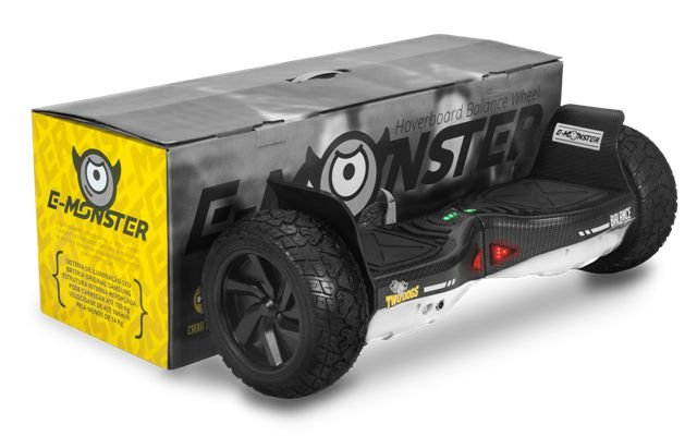 HOVERBOARD TWO DOGS E-MONSTER BRANCO CARBONO