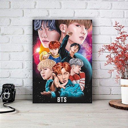 Quadro/Placa Decorativa BTS - Bangtan Boys