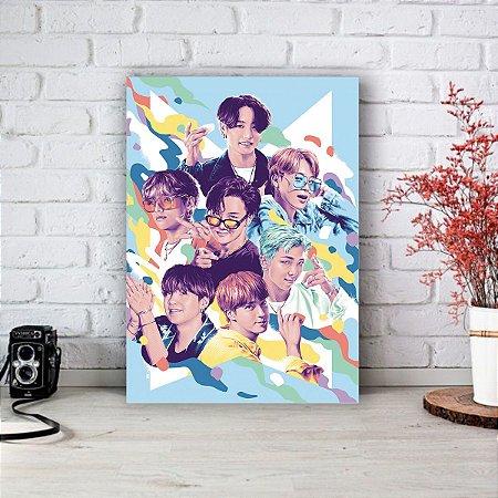 Quadro/Placa Decorativa BTS - Dynamite
