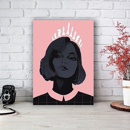 Quadro/Placa Decorativa O Gambito da Rainha - The Queen's Gambit (Netflix)