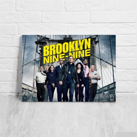Quadro/Placa Decorativa Pôster Brooklyn Nine-Nine