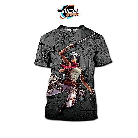 Camisa Mikasa Ackerman - Attack on Titan