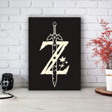 Quadro/Placa Decorativa The Legend of Zelda