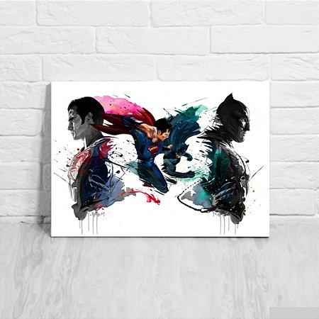 Quadro/Placa Decorativa Batman vs Superman