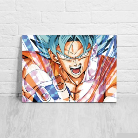 Quadro/Placa Decorativa Goku Super Sayajin Blue - Dragon Ball