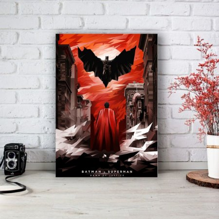 Placa Decorativa Batman vs Superman