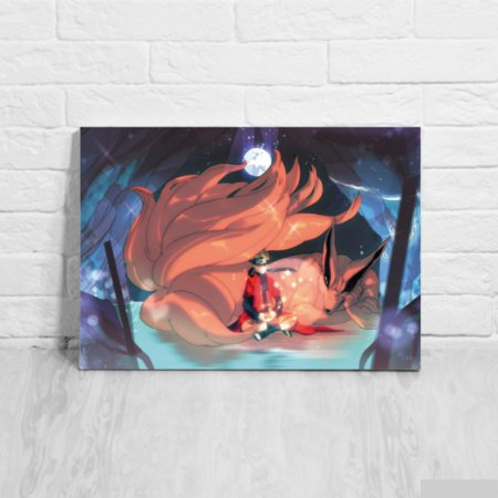 Placa Decorativa Naruto e Kurama
