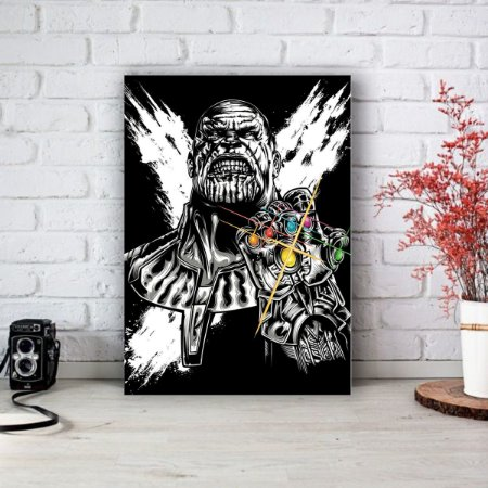 Quadro/Placa Decorativa Thanos - Vingadores