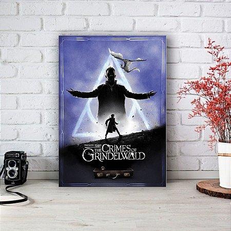 Quadro/Placa Decorativa Animais Fantásticos Os Crimes de Grindelwald