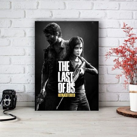 Quadro/Placa Decorativa The Last of Us Remastered