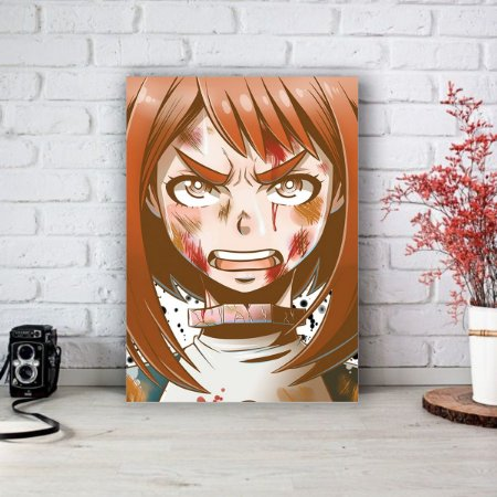 Quadro/Placa Decorativa Uraraka Boku no Hero Academia