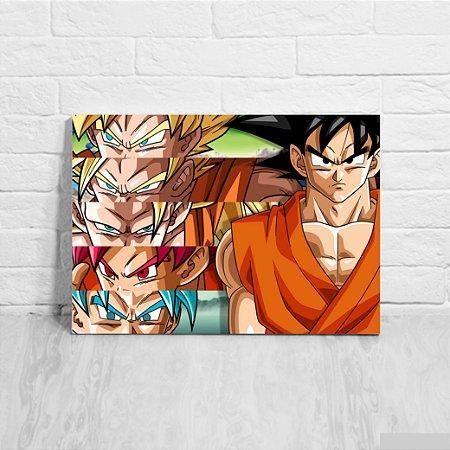 Quadro/Placa Decorativa Goku Transformações - Dragon Ball