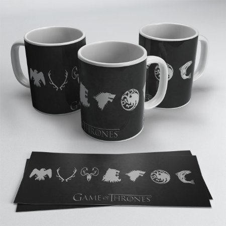 Caneca Casas Game of Thrones