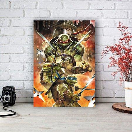 Placa Decorativa Tartarugas Ninjas