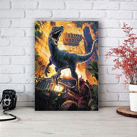 Placa Decorativa Jurassic World