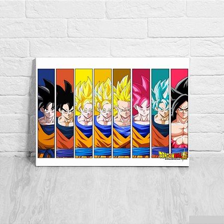 Placa Decorativa Goku Transformações