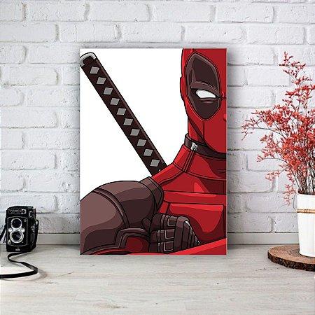 Quadro/Placa Decorativa Deadpool