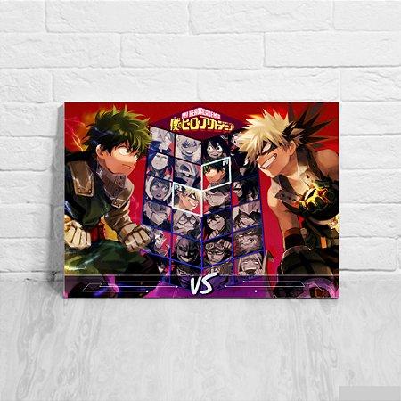 Placa Decorativa Boku no Hero Academia Jogo