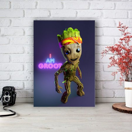 Placa Decorativa I am Groot