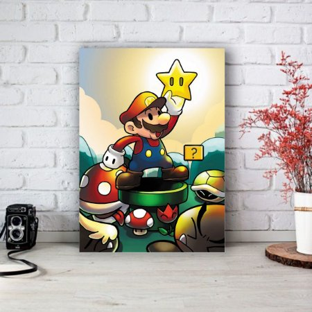 Placa Decorativa Mario