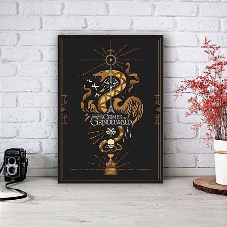 Placa Decorativa Animais Fantásticos e os Crimes de Grindelwald