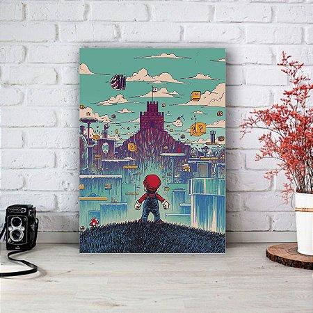 Quadro/Placa Decorativa Super Mario