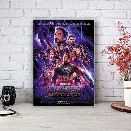 Quadro/Placa Decorativa Poster Vingadores Ultimato