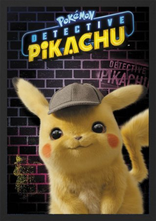 Quadro Detetive Pikachu - Filme Pokemon