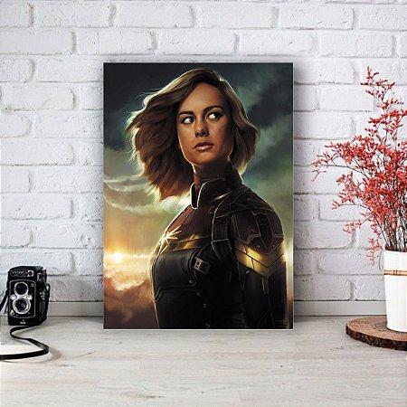 Quadro/Placa Decorativa Capitã Marvel - Carol Danvers