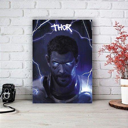 Quadro/Placa Decorativa Thor - Deus do trovão