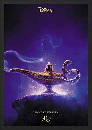 Quadro Lâmpada Mágica - Aladdin