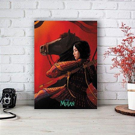 Quadro/Placa Decorativa Mulan - Live action Disney