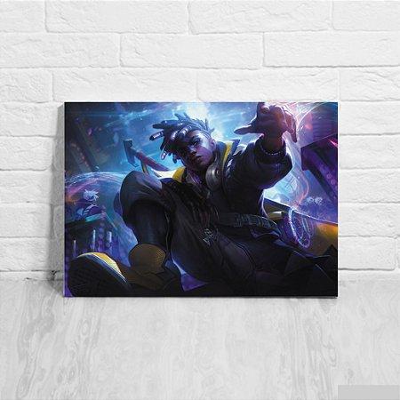 Quadro/Placa Decorativa Ekko - League of Legends