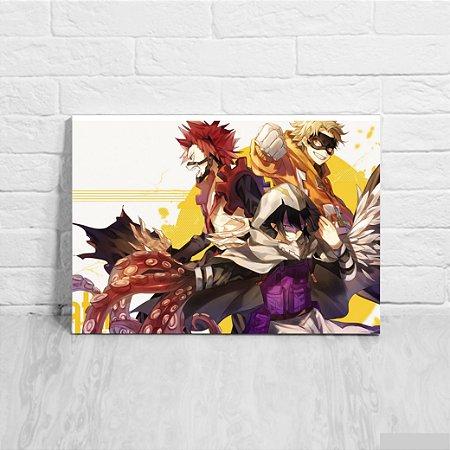 Quadro/Placa Decorativa Fat Gum Team - Boku no Hero