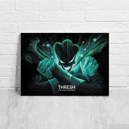 Quadro/Placa Decorativa Thresh - League of Legends