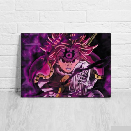 Quadro/Placa Decorativa Meliodas Demônio  - Nanatsu no Taizai