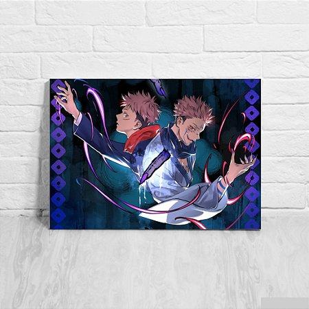 Quadro/Placa Decorativa Yūji Itadori e Sukuna - Jujutsu Kaisen