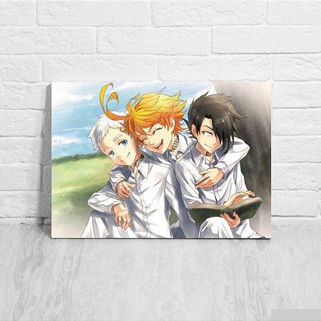 Quadro/Placa Decorativa Norman, Emma e Ray - The Promised Neverland