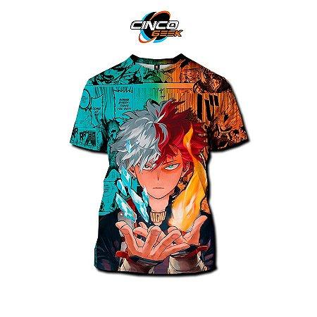 Camisa Shoto Todoroki - Boku no Hero