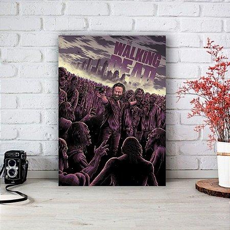 Quadro/Placa Decorativa The Walking Dead