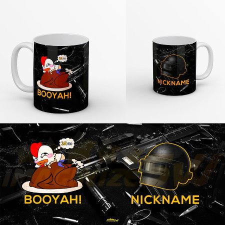 Caneca Personalizada Free Fire Battlegrounds - Com Nick Name