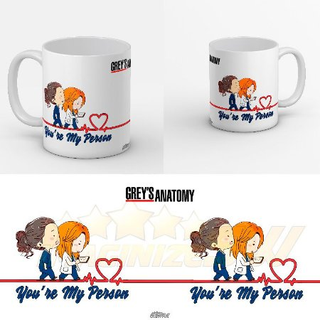 Caneca Greys Anatomy -you're My Person Meredith And Yang