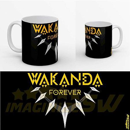 Caneca Wakanda Forever – Colar Pantera Negra