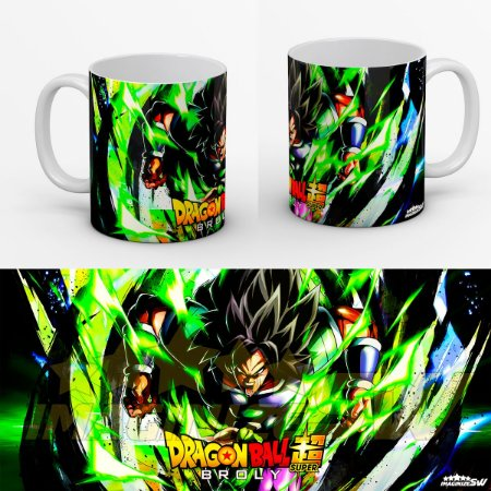Caneca Dragon Ball Super - Broly Lendario Super Sayajin Film