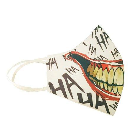 Mascara Proteção Sorriso Coringa Ha Ha Ha Lavável Algodão Antialérgico