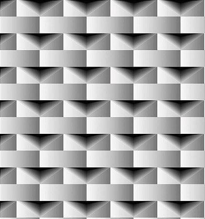Papel de Parede Geométrico Retângulos 3D